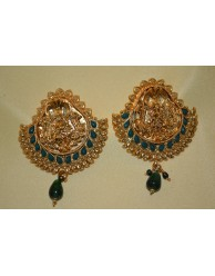 Green Ramleela Earrings - S14 - 240