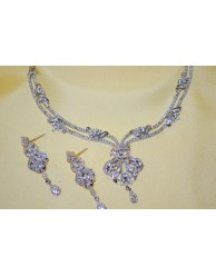 Rhodium Necklace Set -  S15 - 48