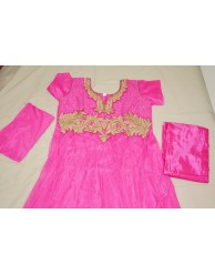 Dark Pink Chudidar with Gold Border : KC-08
