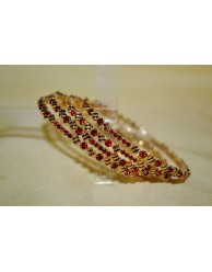 Red Stone Bangles - S17 - 158