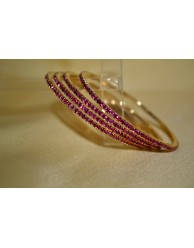 Pink Stone Bangles - S20 - 12A