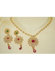 Polki Necklace Set -  S22 - 02