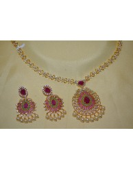 Designer  CZ Necklace Set - S26 - 45