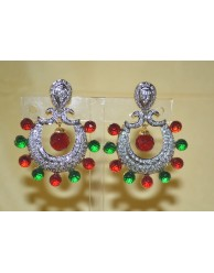 CZ Bali Earrings - S27 - 165